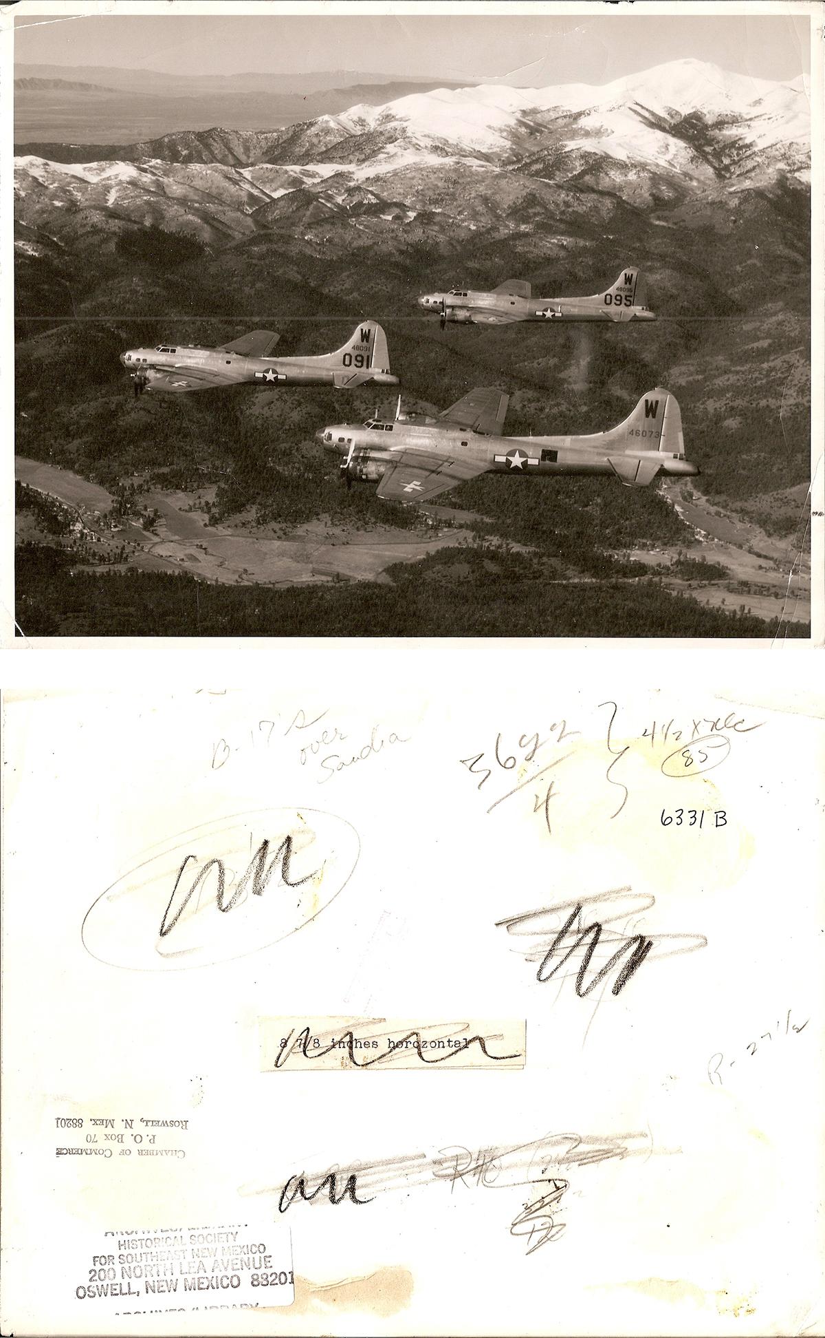 B-17's over Sandia
