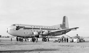 C-124A tail number 9244 (buno 49-0244).  This photo was taken in Jan 1951 at RAFB Lakenheath